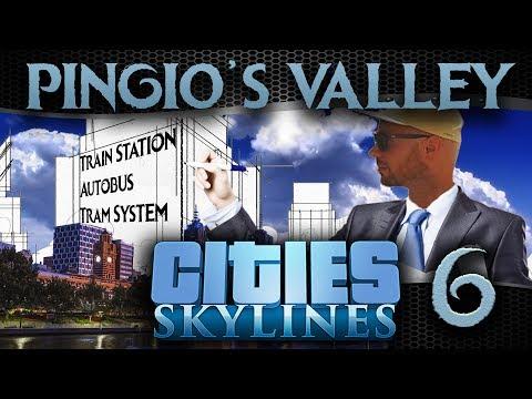 Pingio's Valley #6 | Cities Skylines | Mass Transport: bus & tram