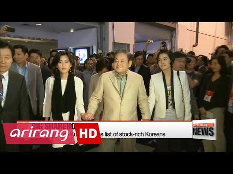 Samsung's Lee Kun-hee tops list of stock-rich Koreans