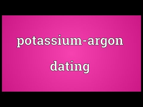 potassium argon dating is used to date volcanic rock