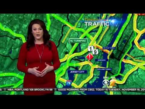 CBS 2 News - Alex Denis pregnant & busty (11-19-13)