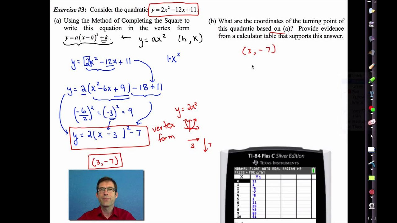 Common core algebra iunit 8lesson 5retching parabolas and common core algebra iunit 8lesson 5retching parabolas and completing the square youtube ibookread PDF