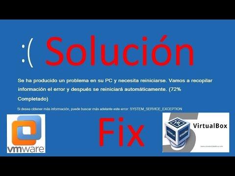 como solucionar error system service exception windows 10