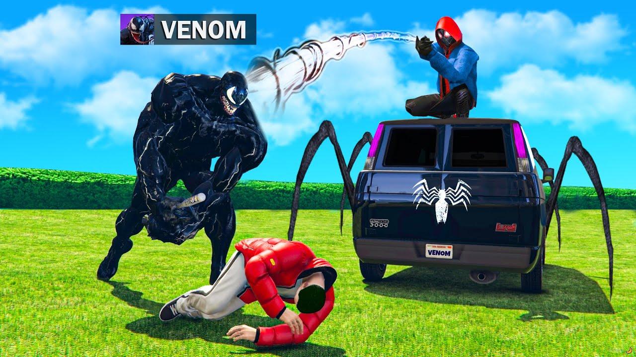 Spiderman BESCHÜTZT BESTE Freunde vor VENOM in GTA 5 RP!