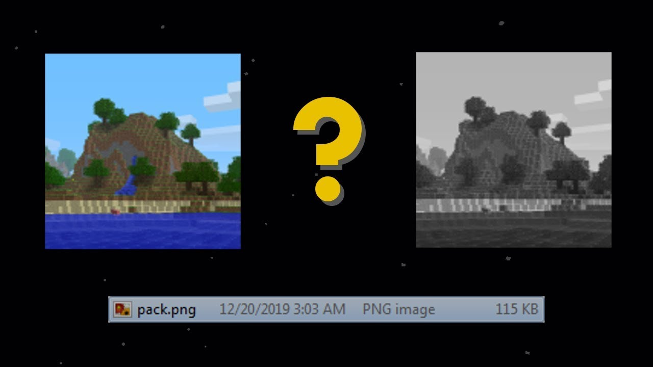 The Mystery Of The Minecraft Pack Png File Youtube