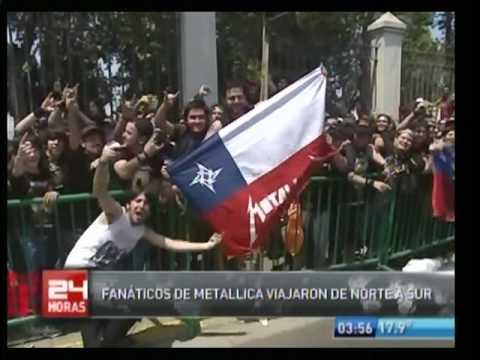 Metallica TV Chilena Santiago Chile 2010