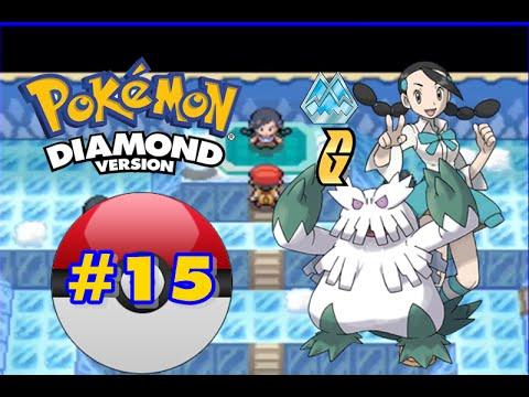 Pokemon Diamond - Part 15 - Snowpoint City Gym Leader Candice!