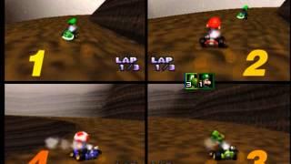 Midnight Gaming: Mario Kart 64 4 Player VS (Part 1)