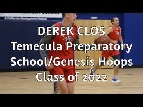Derek Clos Class of 2022 Temecula Preparatory School mixtape