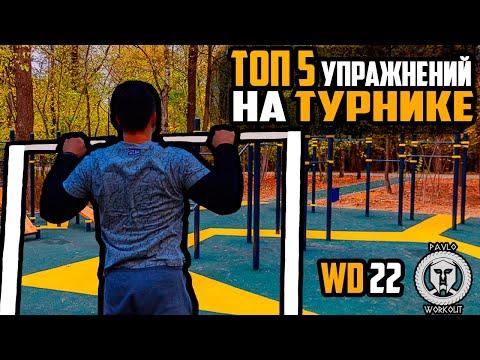 ТОП 5 упражнений на ТУРНИКЕ | Workout Day 22