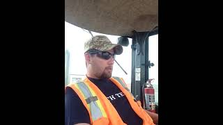 Heavy Equipment operator talking shit 2