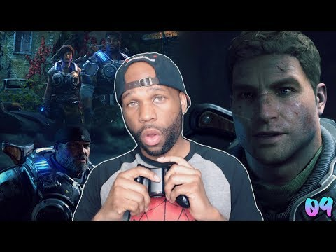 """GEARS OF WAR 4 WALKTHROUGH GAMEPLAY PART 9 - """"THE GREAT ESCAPE"""" (INSANE DIFFICUTLY)"""
