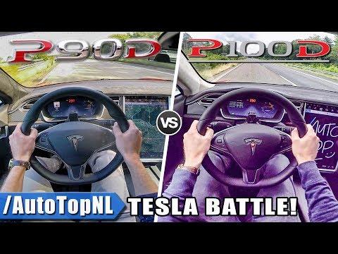Tesla Model S P100D Vs P90D | ACCELERATION TOP SPEED 0-250km/h AUTOBAHN POV By AutoTopNL