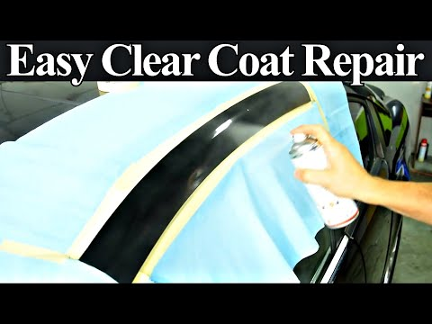 How to Repair Damaged Clear Coat - Auto Body Repair Hacks Re