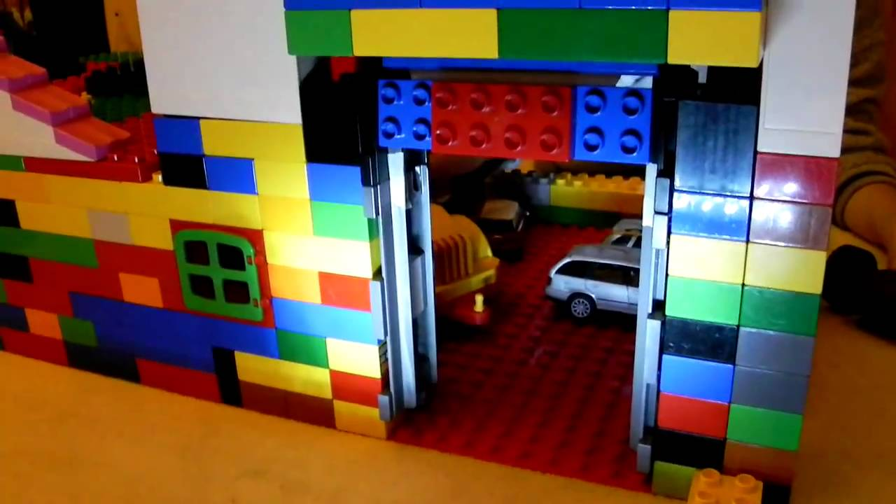 Lego Duplo Automatic Garage Door Digger Youtube