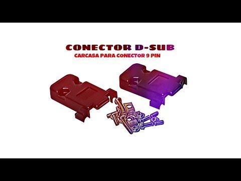 Video de Carcasa sub-d para conector 9 pin  Negro