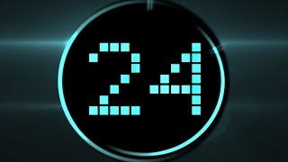 Countdown Timer LED 30 sec ( v 187 ) blue clock timer with sound effects HD  █▬█ █ ▀█▀
