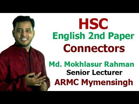 HSC English 2nd Paper (Grammar)    Connectors    ARMC Mymensingh