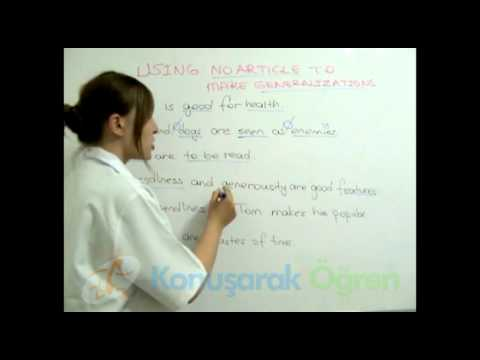 Book 1 - Chapter 4-11 - USING Ø  (NO ARTICLE) TO MAKE GENERALIZATIONS