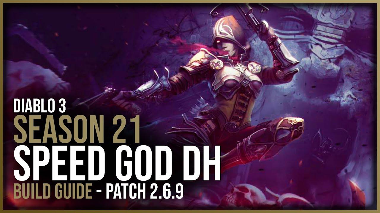 Diablo 3 Speed Farming God Demon Hunter Build Guide Patch 2 6 9 Season 21 Youtube