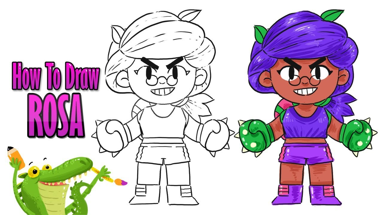how to draw rosa | brawl stars | drawing tutorial - YouTube