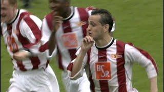 """Wir blicken zurück auf das heimspiel gegen den selbst ernannten """"karnevalsverein"""" vom 05.05.2002 vor 14.001 zuschauern im stadion an der alten försterei. was..."""