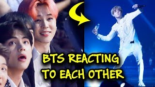 BTS reacting to EACH OTHER