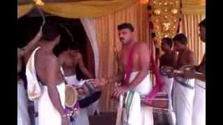 Traditional wedding instrumental music in Kerala, India