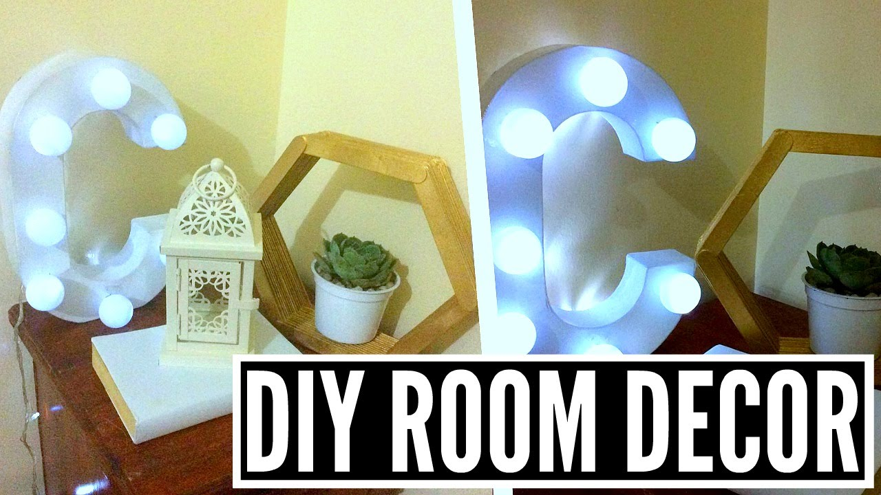 Bedside table decor tumblr - Diy Tumblr Room Decor Bedside Table Decor