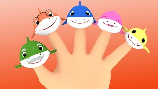 Baby Shark Song Finger Family + More Nursery Rhymes Song with Sharks Cartoon | Sharks for Children