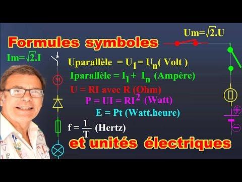 10 formules + unités et symboles d'électricité à connaître