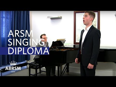 ARSM performance diploma - singing exam