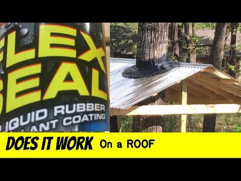 FLEX SEAL a treehouse roof