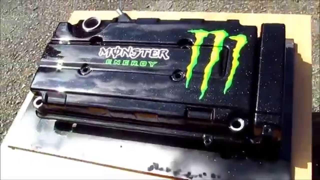 Monster Energy Honda Vtec Valve Rocker Cam Engine Cover B16 B18 B Series Civic Integra Crx Youtube