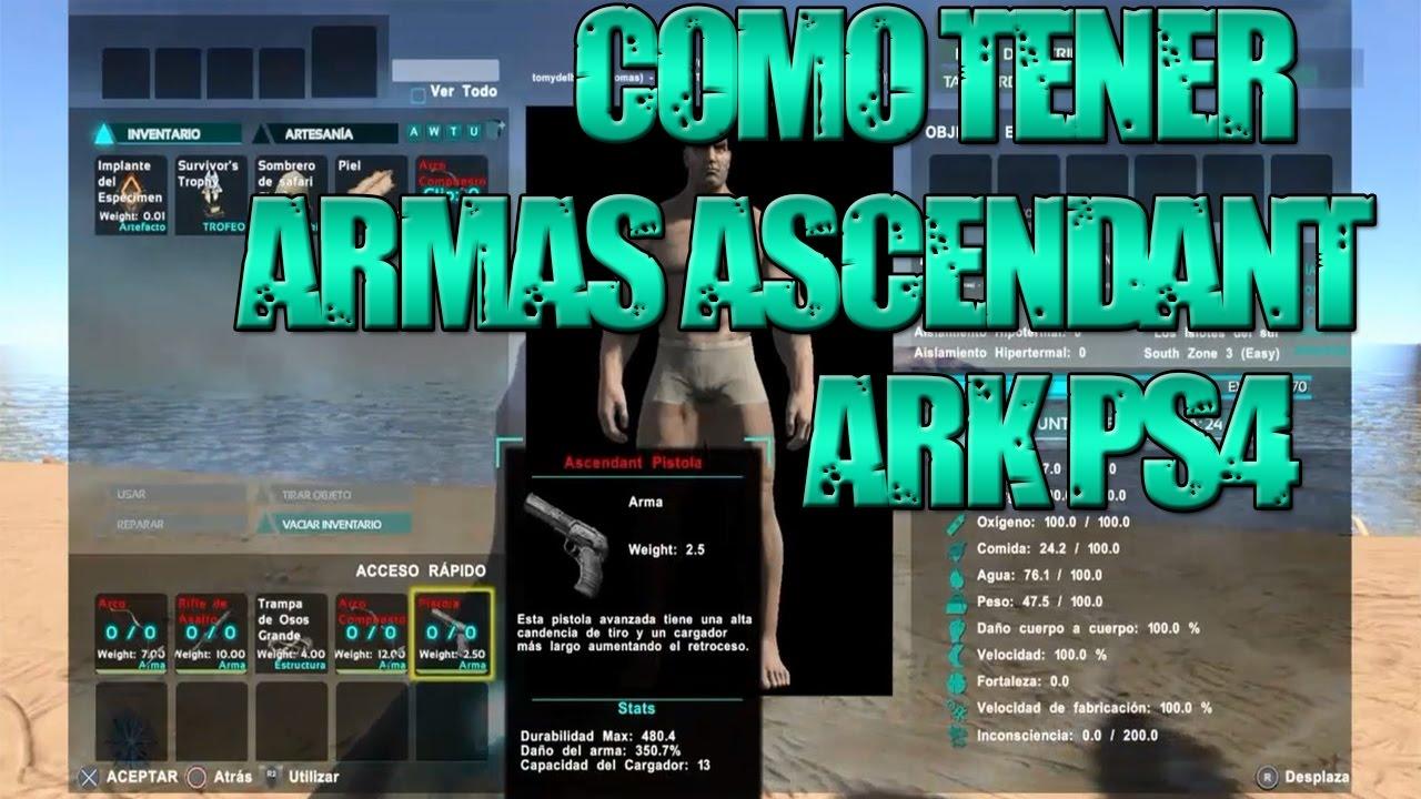 Como tener armas ascendantcomandos ark ps4 xbox onepc youtube como tener armas ascendantcomandos ark ps4 xbox onepc malvernweather Image collections
