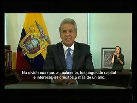 Presidente Lenín Moreno anuncia medidas económica