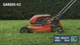 Husqvarna Battery Series - How far can you get on a single charge? Featuring 347iVX Mower & BLi30