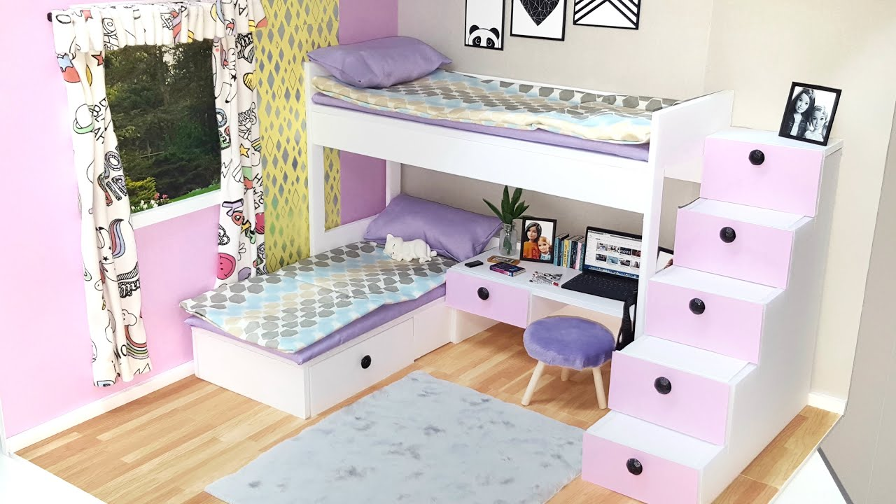 DIY Doll Bedroom with Bunk Bed