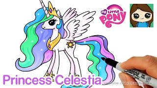 How to Draw Princess Celestia - My Little Pony
