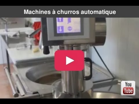 machines churros automatique en train de faire des churros droits youtube. Black Bedroom Furniture Sets. Home Design Ideas