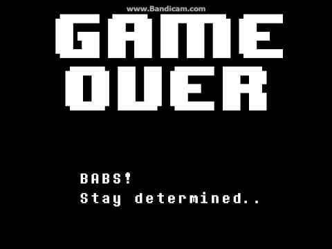 Undertale - Game Over Screen