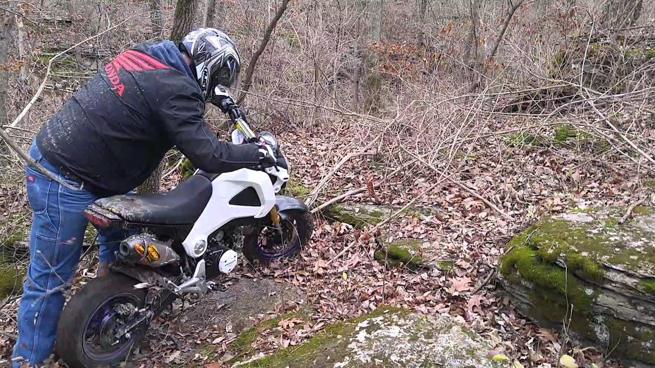 2015 Honda Grom >> Honda Grom off road fun - YouTube