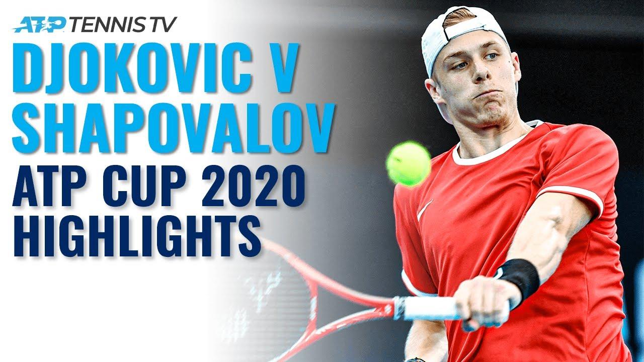 Novak Djokovic vs Denis Shapovalov | ATP Cup 2020 Extended Highlights