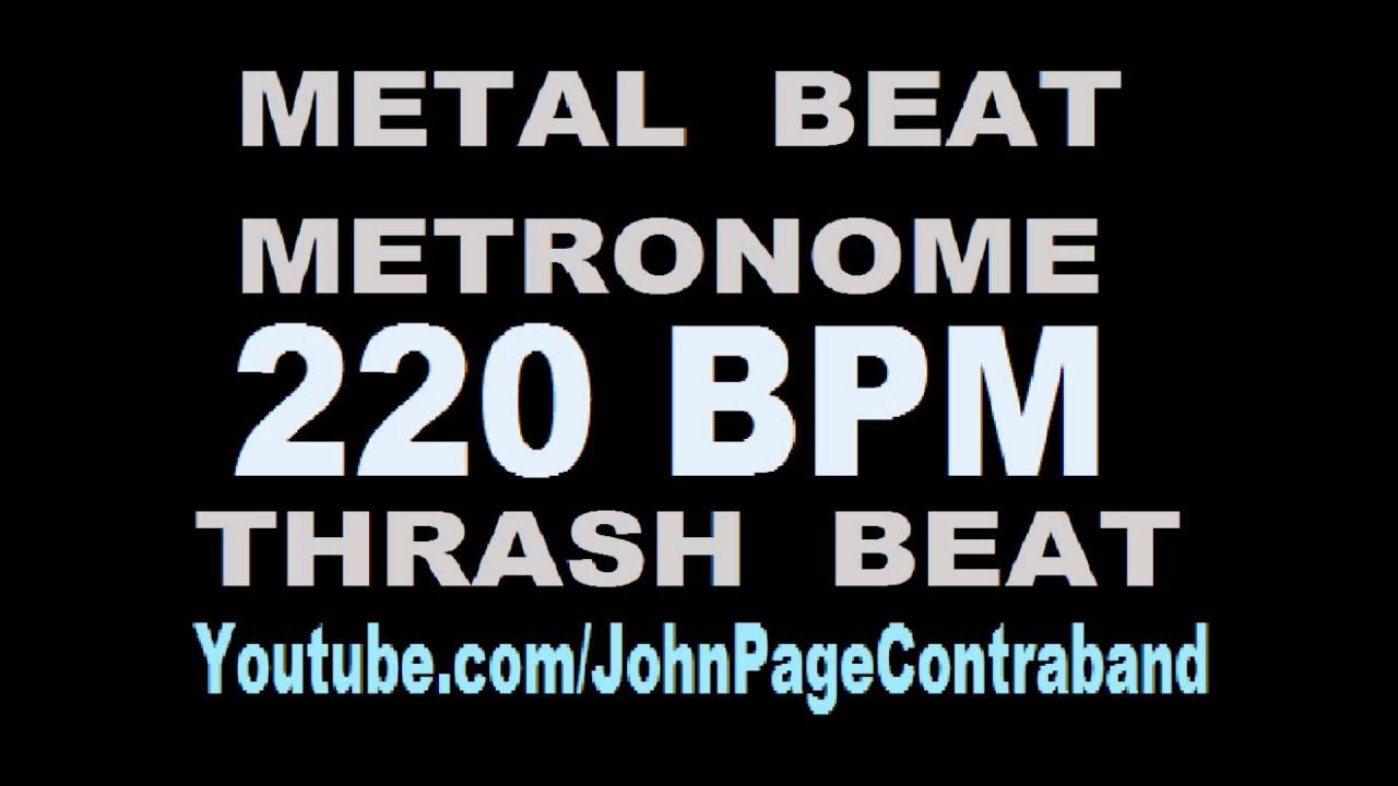 Metal Beat Timing Training Metronome 220 BPM Thrash Beat