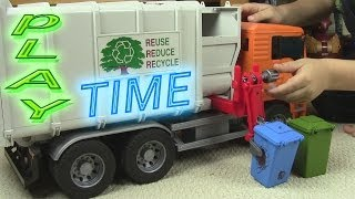 Garbage Truck Video - PLAYTIME FOR KIDS!
