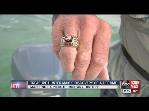 Treasure hunter finds Vietnam Veteran's military service ring near Snake Island