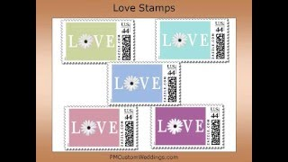 Wedding Postage Stamps by PM Custom Weddings