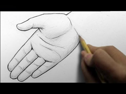 How To Draw Hands 2 Ways Open Palm Writing Youtube
