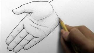 How to Draw Hands, 2 Ways (open palm, writing)
