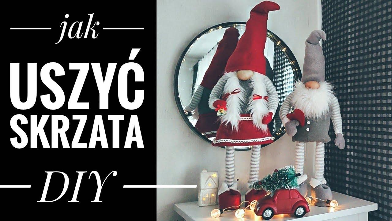 Jak uszyć stojącego skrzata DIY. Christmas Gnomes DIY. Jak uszyć krasnala stojącego DIY