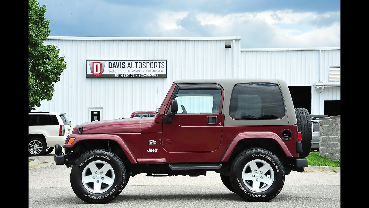 davis autosports lifted wrangler tj sahara for sale youtube. Black Bedroom Furniture Sets. Home Design Ideas